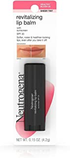 Neutrogena Revitalizing Lip Balm Spf 20, Spf 20, Healthy Blush 20, .15 Oz.