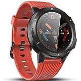 Vigorun Smartwatch Reloj Inteligente Hombre Mujer, Pantalla Táctil Completa Relojes Deportivos, Monitor Ritmo Cardíaco y Sueño, Podómetro, Impermeable Pulsera Actividad Inteligente Android Naranja