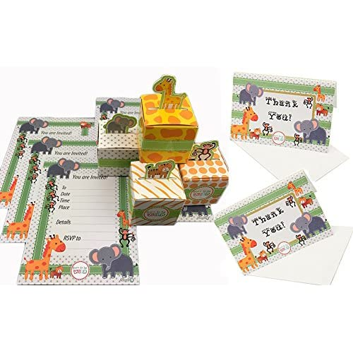 a7c8c641e8a Adorox (144 Pcs. Pack (48 Invites + 48 Boxes + 48 Thank you