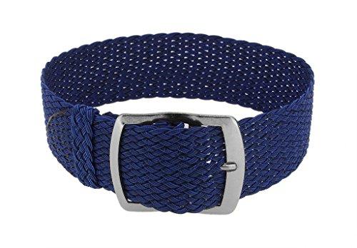 Minott Cinturino di ricambio intrecciato, cinturino perlon, colore blu,...