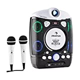 AUNA Kara Projectura - Set Karaoke, proyector Video LCD , 2 micrófonos dinámicos , Reproductor de CD+G , USB , Compatible MP3 , Salida de Video y Audio , Negro