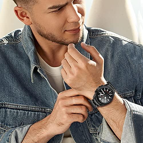 TRUMiRR Kein Gap Uhrenarmband Kompatibel mit Galaxy Watch 3 45mm Armband, Solides Clip Edelstahl Metall Uhrenarmband Hand Abnehmen Armband Ersatzband für Samsung Galaxy Watch3 45mm