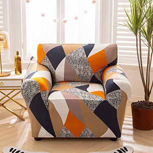 Einfach zu installierender und bequemer Sofa Sofa-Cover, Sessel-Cover-elastisches Sofa-Cover Baumwoll-Stretch-Sofa-Cover für Wohnzimmer Copridivano Slipcover für Single Sofa Couch Couch