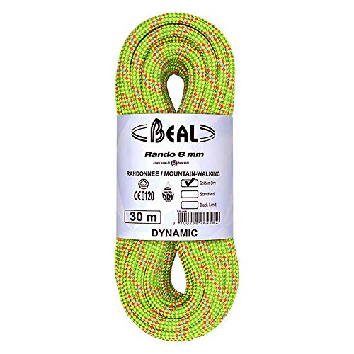 Cordes jumelées BEAL RANDO 8 mm Golden Dry