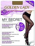 golden lady mysecret 40 collant, 40 den, marrone (daino 334b), medium (taglia produttore:3–m) donna