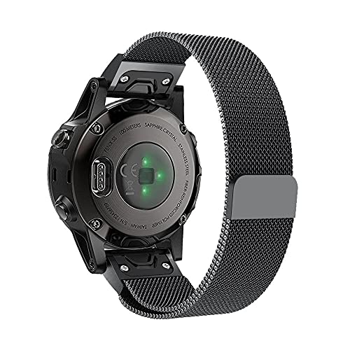 Pulseira Magnética 22mm Para Samsung Gear S3 Classic, S3 Frontier, Galaxy Watch 46mm (Preto)