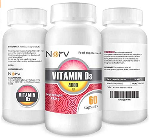 Premium High Strength Vitamin D Tablets - Effective Vitamin D3 2000IU 60 Easy to Swallow Softgels - Vitamin D Supplement for Healthy Muscles and Bones - One a Day, High Strength VIT D (Pack of 5)