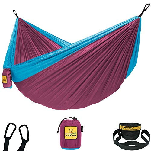 Portable Adjustable Single and Double Hammock with Tree Strap Outdoor Camping Hammock Comfortable and Breathable