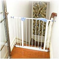 ベビーゲート フェンス ドア付き 階段や廊下の壁には、デュアルロックベビーゲート簡単に調節可能なエキストラ安全な階段子供の安全ドアパンチフリーインストールマウントペットフェンス圧力締結(Hの76センチメートル) (Color : White, Size : 95-104cm)