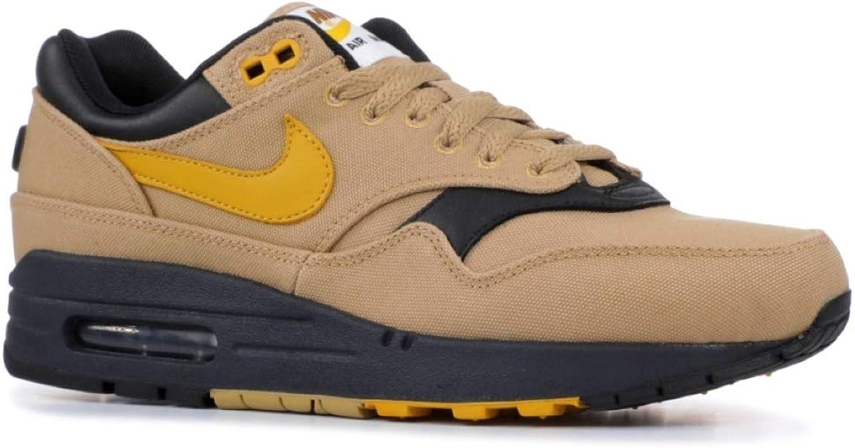 Nike Herren Air Max 1 Gold Leder Synthetik Textil Turnschuhe