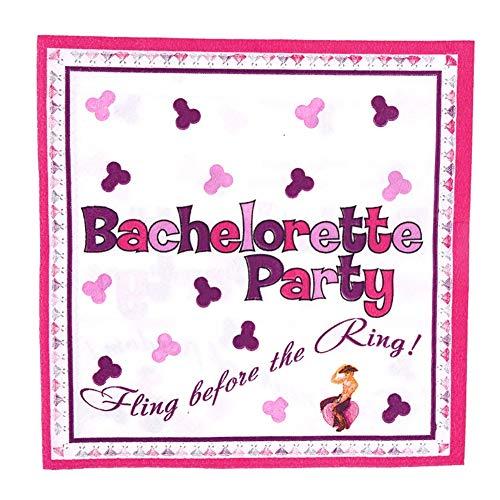 STZSHION Pack De 8 De Los Tejidos Bachelor Party Divertidos Impresión del Patrón De Tejido De Aves Erótica Fuentes del Partido De Vacaciones (Color : Pink, Size : 8 Pcs*60 Packs)