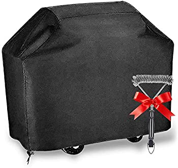 Upoda Waterproof 58 Inch Barbecue Gas Grill Cover with Brush