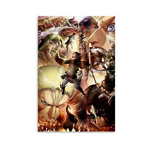 chengyin Iuhdi Attack on Titan - Lienzo decorativo para pared (30 x 45 cm)