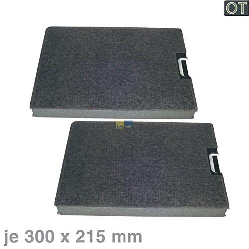 Miele 3284682 ORIGINAL Kohlefilter Aktivkohlefilter Filter Geruchsfilter rechteckig 300x215mm 2 Stück Dunstabzugshaube auch DKF6 Bosch 00271068 DHZ90AF Z5111X0 LZ53050 Z5111X0