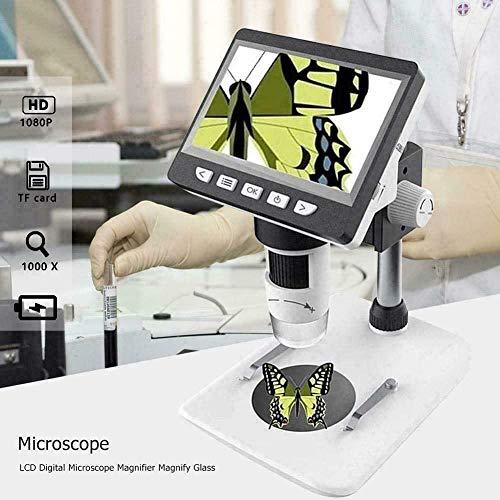 XYNB Microscopio electrónico de Laboratorio de Soldadura de 4.3 Pulgadas 1000X para PC Carga USB Mesa de Video Digital Reparación del teléfono 1080P HD Herramienta Cámara Herramientas de reparación d