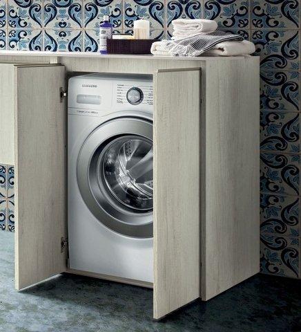 Bagno Italia Base portalavatrice copri lavatrice mobile bagno in 30 colori bianco rovere larice wengè I