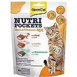 GimCat Nutri Pockets - Knuspriger Katzensnack mit cremiger Füllung und funktionalen Inhaltsstoffen...