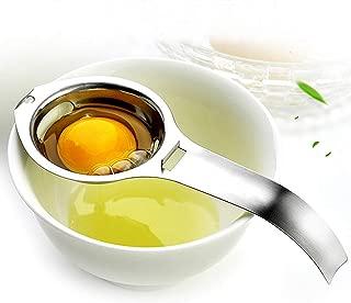 Utoptech Yolk Stainless Steel Filter Divider Kitchen White Egg Separator Dishwasher Safe Tool (Silver)