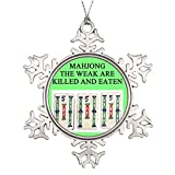 Funny ship Funny Xmas Trees Decorated Mahjong Large Christmas Snowflake Ornaments Game