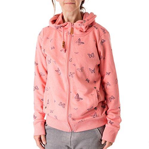 Sweatjacke Sublevel Schmetterling Größe: L Farbe: hell pink