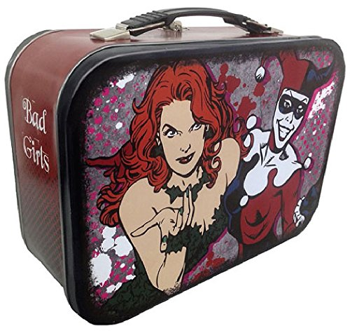 DC Comics Poison Ivy & Harley Quinn Bad Girls Tin Lunchbox Carryall