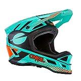 O'NEAL   Casco para Bicicleta de montaña   MTB Downhill   Forro Dri-Lex, Aberturas de ventilación para la refrigeración   Casco DE POLIACRILITO Ace   Adultos   Menta Naranja Negro   Talla XL
