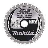 Makita B-10615 - Disco HM 136/20/30D Batería especial metal