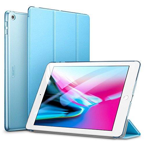 ESR Yippee - Capa inteligente para iPad 6ª geração 2018/2017 (não para iPad 10.2) [Leve] [Caixa de suporte de tela multi-ângulo] [Auto Power Off/Wake Up] para iPad 5ª / 6ª geração, azul claro