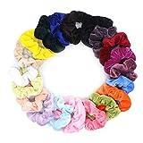 20 coleteros de terciopelo para el pelo de terciopelo pastel, 20 colores, bandas elásticas para el cabello, diademas, soporte para coletas para mujeres, niñas