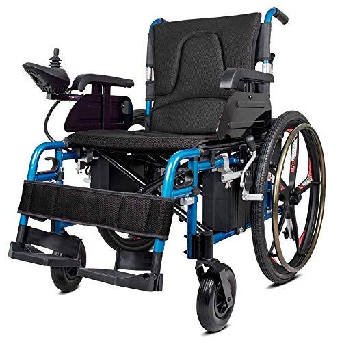 CHAIR Elektrorollstuhl, Leichter faltbarer Doppelfunktionsrollstuhl (Li-Ionen-Akku), Fahren mit Elektroantrieb oder Verwendung als manueller Rollstuhl Gk