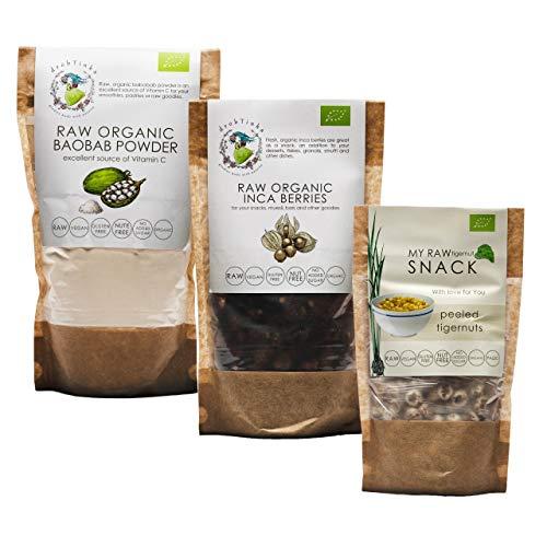 Drobtinka Vitamin Pack with Baobab Powder, Inca Berries and Peeled Tigernuts, Organic and Raw