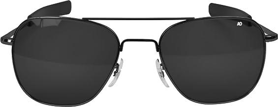 AO American Optical Original Pilot Sunglasses Black 57mm Bayonet Temples
