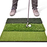 Best Indoor Golf Practices - GoSports Tri-Turf XL Golf Practice Hitting Mat | Review