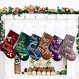 Beyond Your Thoughts Weihnachtsstrumpf 6er Nikolausstrumpf Deko Kamin 6 Set Nikolausstiefel zum befüllen und aufhängen groß Ideale Weihnachtsdekoration Christmas Stockings Xmas Weihnachtsmann Rot Grün