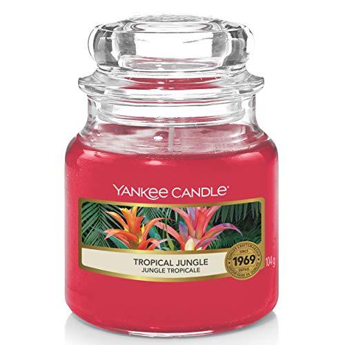Yankee Candle bougie jarre parfumée | petite taille | Jungle Tropicale | jusqu'à 30 heures de combustion