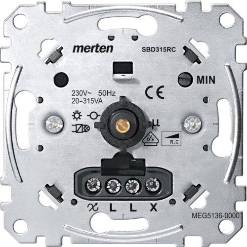 Merten MEG5136-0000 Drehdimmer-Einsatz für kapazitive Last, 20-315 W