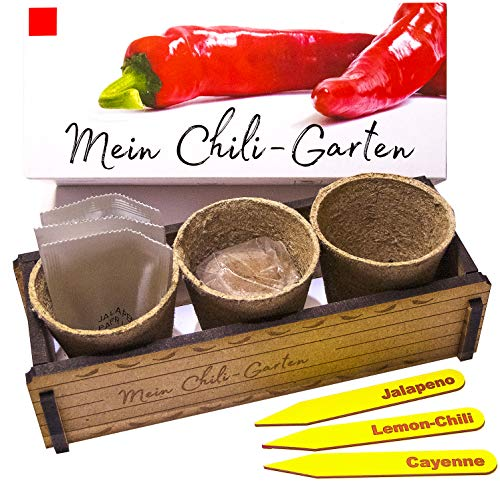 My Chili Garten - Un regalo original para cualquier ocasión - Juego de guindilla ideal como regalo para Navidad, Día del Padre, Día de la Madre, cumpleaños o Pascua.