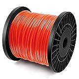 Forever Speed Hilos de Trimmer Césped Hilo de corte Rosca de Repuesto Trimmer de Césped Hilo de Nylon Línea de Recorte 5 - bordes Diámetro 2.8 mm x 100 metros - Rojo