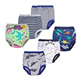 BIG ELEPHANT Unisex-Baby Toddler Potty 6 Pack Cotton Pee Training Pants Underwear (Style E, 4T)