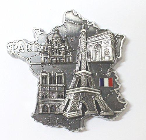AKER Magnet Aimant frigo G194AN Couleur ancienne7x7x1,5CM Souvenir France Paris métal Cadeaux