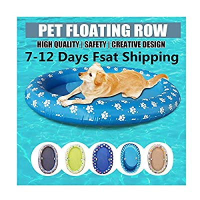 chenqiu Dog Pool Float Swimming Pool Toy Inflatable Ride-ons Pet Floating Raft with Cute Paw and Bone Design for Outdoor Water Game Inflatable Rafts Floating Chair Pool Float for Kids 140x96 cm