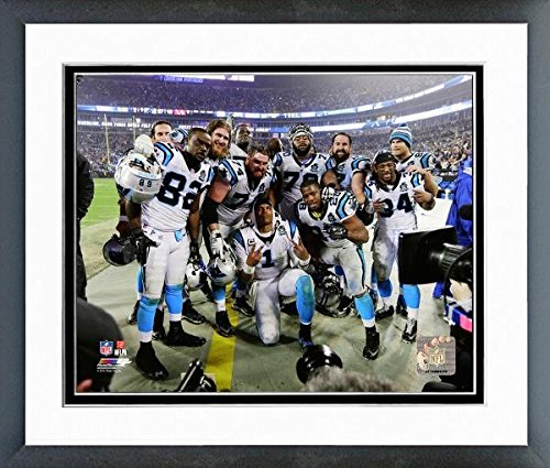 "Cam Newton Carolina Panthers Celebration Photo (Size: 12.5"" x 15.5"") Framed"