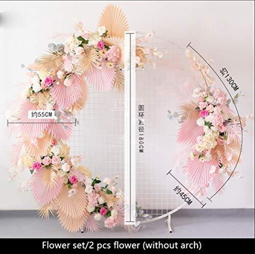 ZXC Home Decoratie, personaliseerbaar, voor bruiloften, Europese bloemen, kunstbloemen, huwelijksaccessoires, smeedijzer, achtergrond voor bruiloft, kunstbloem 2 Pcs Champagne