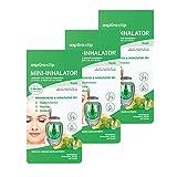 aspUraclip Mini-Inhalator fresh (3er Pack) | Erster Mini-Inhalator für die Nase | Mit Ölen aus Pfefferminze, Zitrone & Limette | Erfrischend und wohltuend bei Kopfschmerzen, Migräne, oder Übelkeit -