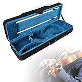 DiLiBee Geigenkoffer Geigenkasten Tragetasche Mit Schultergurt 4/4 Tasche Case & Rucksack
