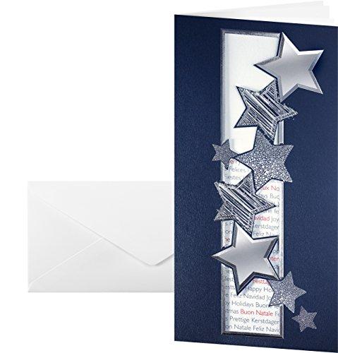 SIGEL DS016 Weihnachtskarten Set mit Umschlag, DIN lang, 10 Stück, gestanzt - weitere Designs