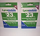 1ST MONTH FREE LYCA MOBILE Preloaded SIM with $23 Plan With International Call