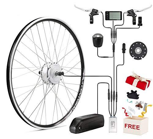 "SEASON Umbausatz E Bike 36V 250W 28\"" Motor Ebike Conversion Kit Frontmotor für Elektrofahrrad mit LCD"