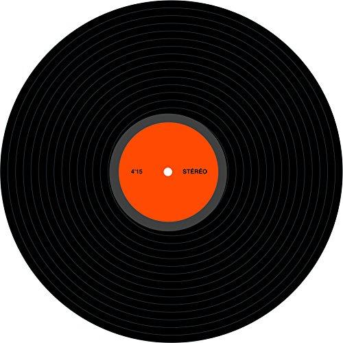 Decorazione in tema Disco Music disco in vinile 30 cm Taglia Unica