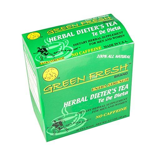 Green Fresh Extra Strength Herbal Dieters Tea, 30 Tea Bags